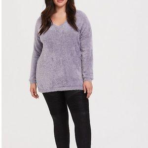 Eyelash Knit Slouchy Pullover